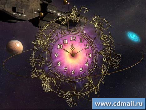 Скриншот 3D Space Clock Screensaver