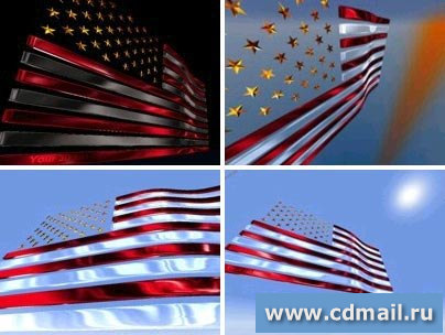 Скриншот 3D USA Flag Screensaver