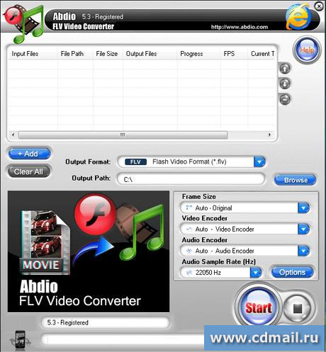 Скрин Abdio FLV Video Converter