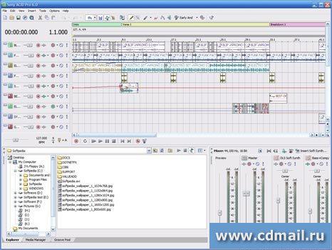 Sony acid pro 6 0d скачать - программы для создания музыки.