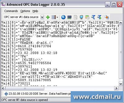 Скрин Advanced OPC Data Logger