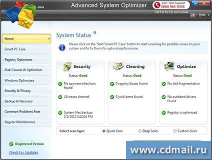 Скриншот Advanced System Optimizer