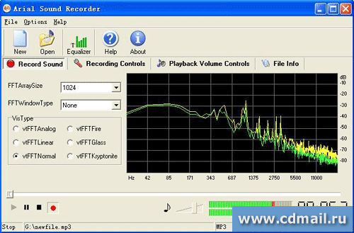 Скриншот Arial Sound Recorder