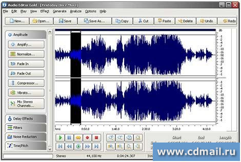 Скриншот Audio Editor Gold