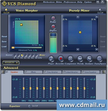 Скриншот AV Voice Changer Software