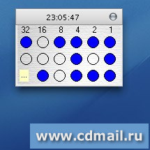 Скриншот Binary Clock