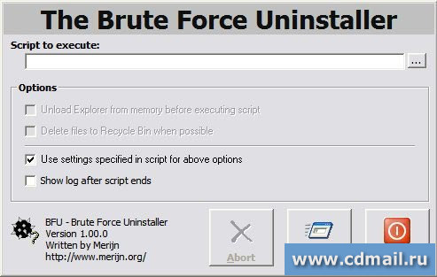 Скрин Brute Force Uninstaller (BFU)