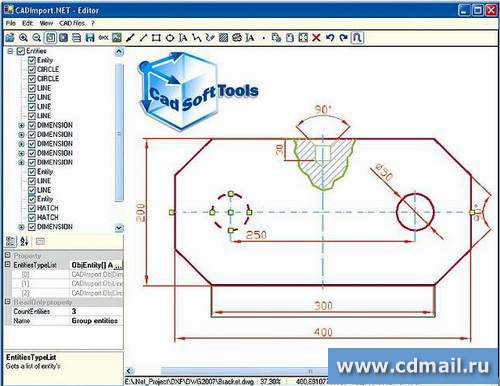 Скриншот CAD Import .NET
