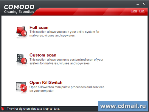 Скрин Comodo Cleaning Essentials