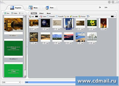 Скриншот DVD Slideshow Builder