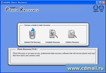 Скрин EASEUS Photo Recovery