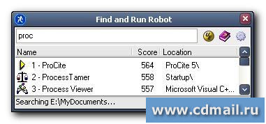 Скрин Find and Run Robot