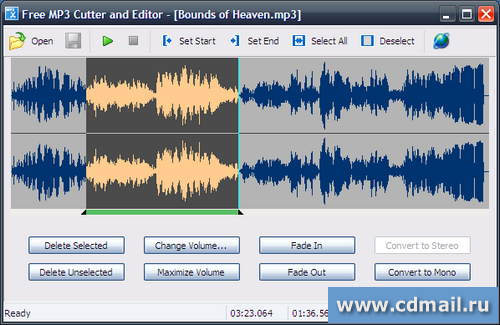 Скриншот Free MP3 Cutter and Editor