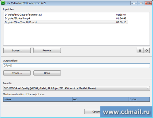 Скрин Free Video to DVD Converter