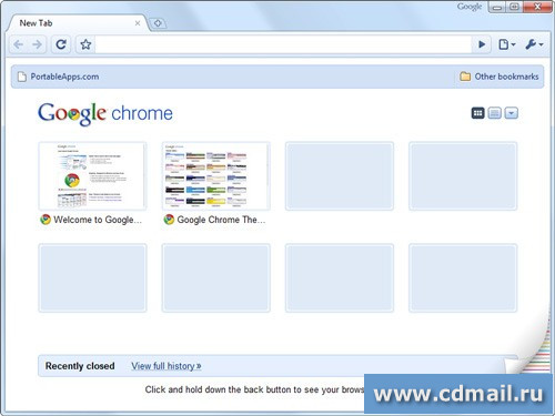 Скриншот Google Chrome Portable