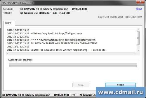 Скрин HDD Raw Copy Tool