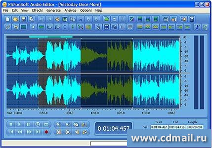 Скриншот McFunSoft Audio Editor