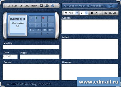 Скриншот Minutes of Meeting Recorder
