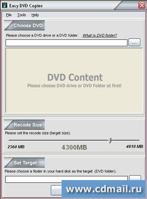 Скриншот MoreDan Easy DVD Copier