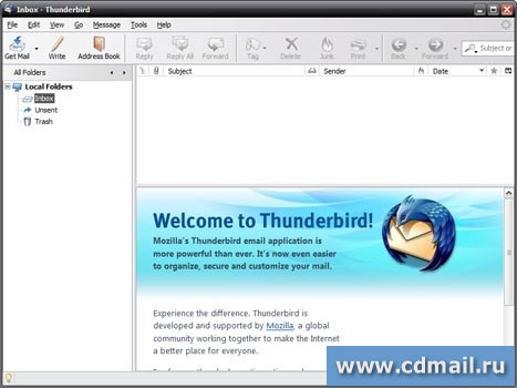 Скриншот Mozilla Thunderbird Portable Edition