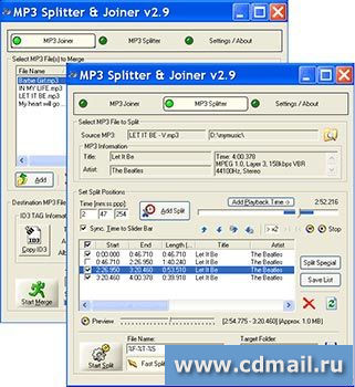 Скриншот MP3 Splitter & Joiner