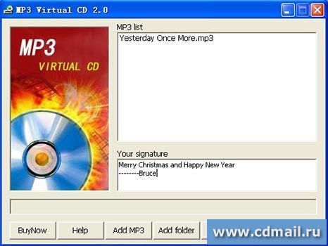 Скриншот MP3 Virtual CD