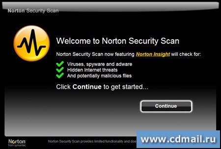Скрин Norton Security Scan