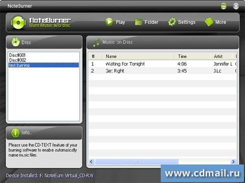 Скриншот NoteBurner Audio Converter