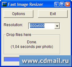 Скрин Portable Fast Image Resizer