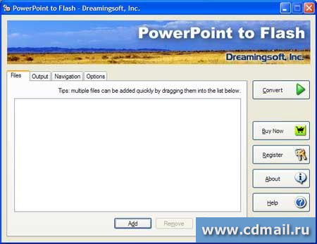 Скриншот PowerPoint to Flash