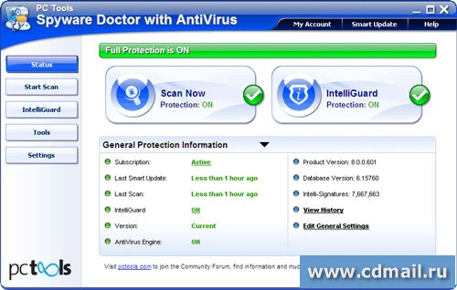 Скриншот Spyware Doctor with AntiVirus