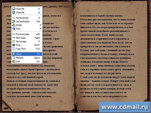 Скрин TextReader-old book