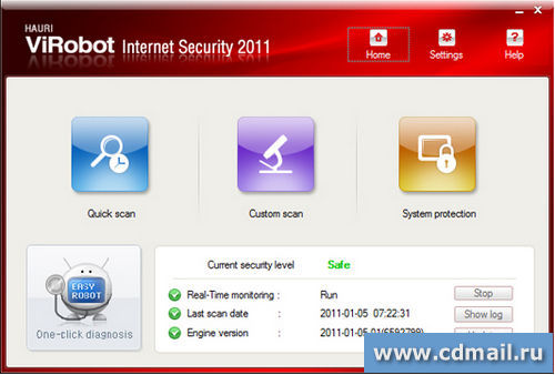 Скриншот ViRobot Internet Security