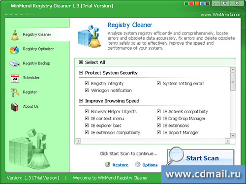 Скриншот WinMend Registry Cleaner