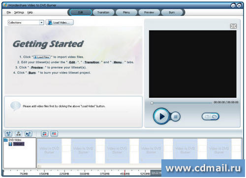 Скрин Wondershare Video to DVD Burner