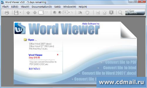 Скриншот Word Viewer