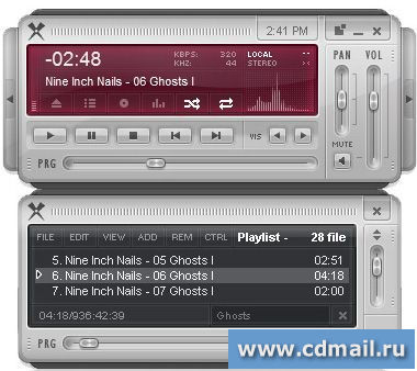 Скриншот Xion Audio Player Portable