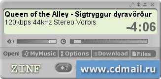 Скриншот Zinf Audio Player